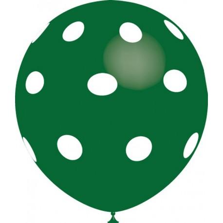 """Globos de 12"""" Verde Bosque Lunares Balloonia"""