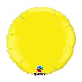 "Globos de foil Redondos de 18"" Amarillo Qualatex"