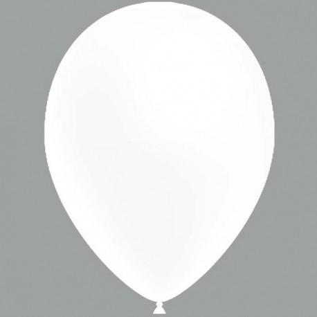 """Globos de 11"""" (28cm) Blanco Balloonia Bolsa 50"""