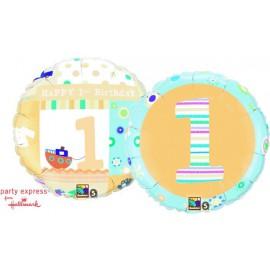"Globos de foil de 18"" primer cumpleaños Niño"