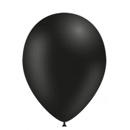 """Globos de 11"""" (28cm) Negro Balloonia Bolsa 50"""