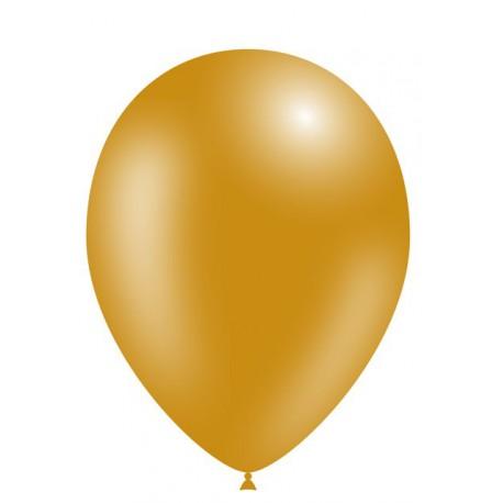 """Globos de 11"""" (28cm) Oro Balloonia Bolsa 50"""