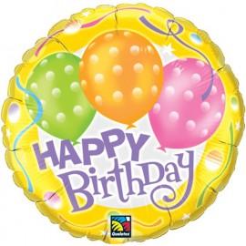 "Globos de foil de 18"" Polka birthday"
