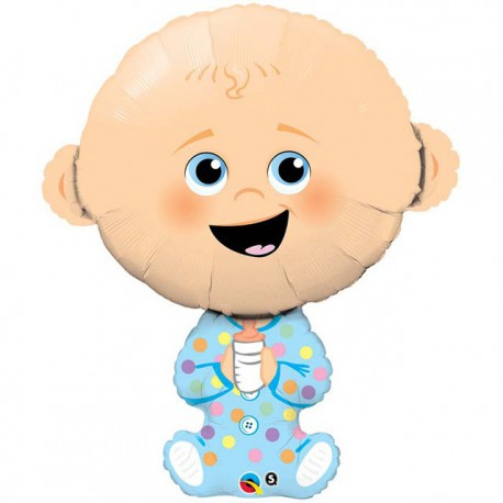 """Globos de foil de 38"""" (96Cm) Baby Boy Qualatex"""