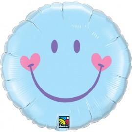 """Globos de foil de 18"""" sonrisa dulce Azul"""