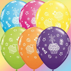 "Globos de 11"" Surtido Cupcakes & Regalos Qualatex"