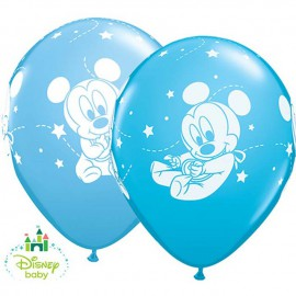 "Globos de 11"" Baby Mickey Qualatex"