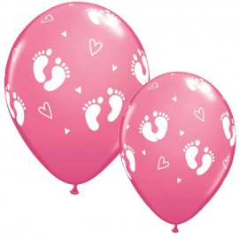 "Globos de 11"" Pisaditas Rosa Qualatex"