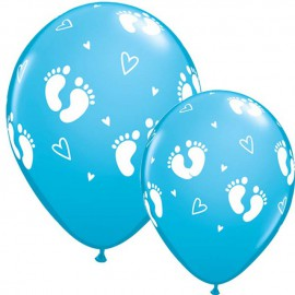 "Globos de 11"" Pisaditas Azul Qualatex"