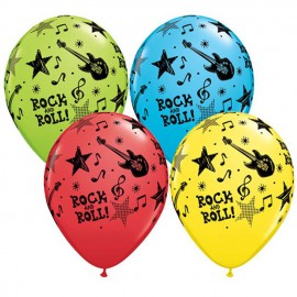 "Globos de 11"" Surtido Rock & Roll Stars Qualatex"