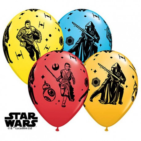 "Globos de 11"" Star Wars Episodio 7 Qualatex"
