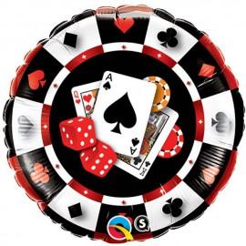 """Globos de foil de 18"""" (45Cm) Otra Ficha de Casino"""