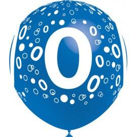 """Globos de 12"""" Número 0 Balloonia"""