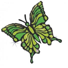 "Globos de foil de 33"" Mariposa verde lima"