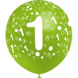"""Globos de 12"""" Número 1 Balloonia"""