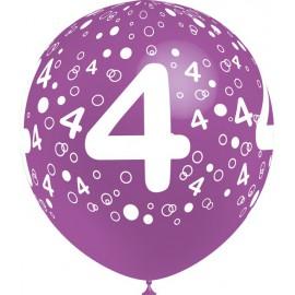 """Globos de 12"""" Número 4 Balloonia"""