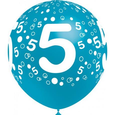 """Globos de 12"""" Número 5 Balloonia"""