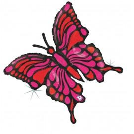 """Globos de foil de 33"""" Mariposa Fucsia"""
