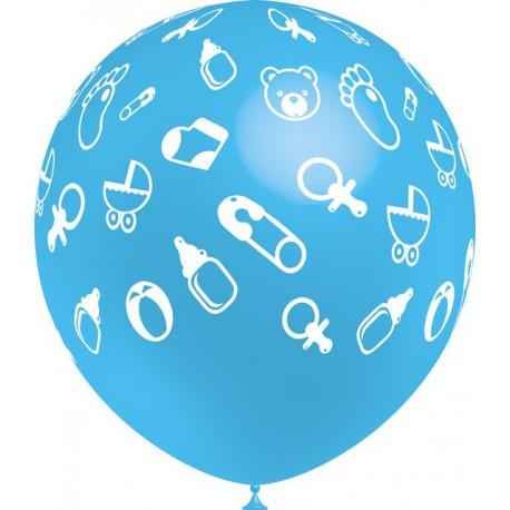 """Globos de 12"""" Baby Azul Metal Balloonia"""