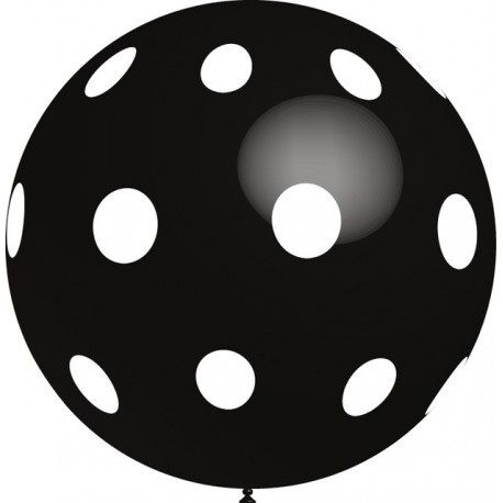 Globos gigantes de 3FT Lunares Negro