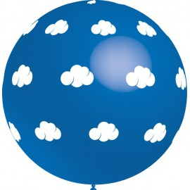 Globos gigantes de 3FT Nubes Azul