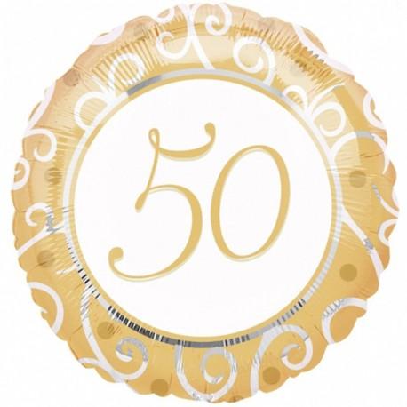 "Globos de foil 18"" (45Cm) 50 Aniversario"