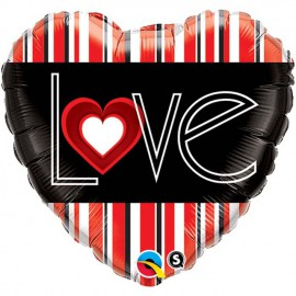 "Globos de foil de 18"" (45Cm) Love o no lo ve"