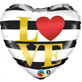 """Globos de foil de 18"""" (45Cm) Love Horizontal"""
