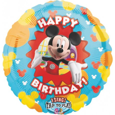 "GLOBO DE FOIL DE 36"" MUSICAL MICKEY BIRTHDAY"