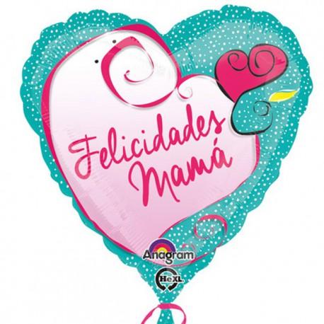 """Globos foil 18"""" (45Cm) Felicidades Mama"""