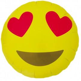 """Globos de foil de 18"""" (46Cm) Emoji Corazones"""