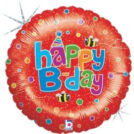 """Globos de foil de 18"""" birthday Abeja"""