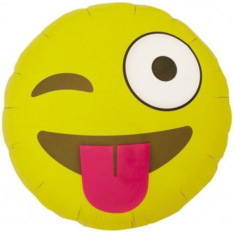 """Globos de foil de 18"""" (46Cm) Emoji Guiño"""