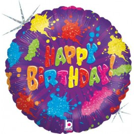 "Globos de foil de 18"" birthday salpicado"