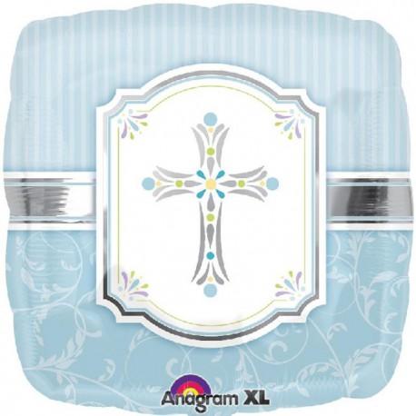"""Globos de foil 18"""" (45Cm) Comunion Azul"""