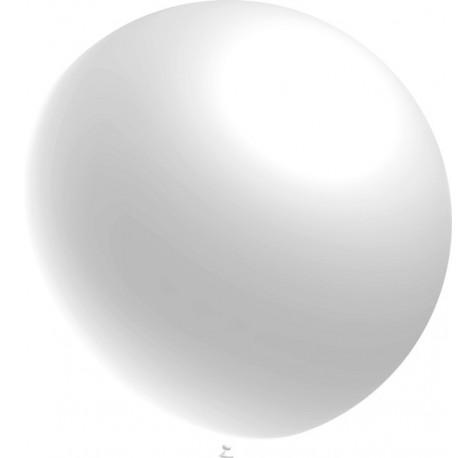 Globos 3FT (100cm) Blanco Metálico Balloonia