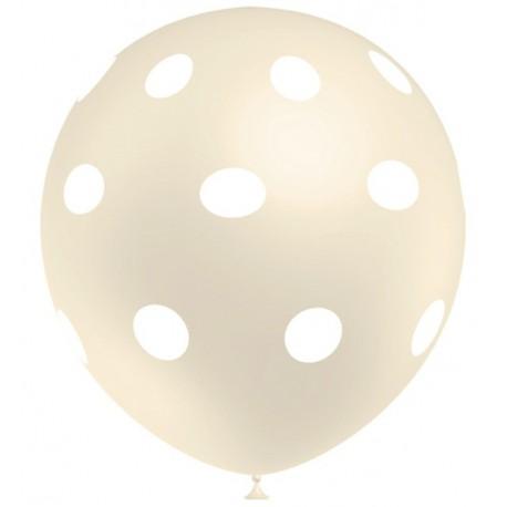 """Globos de 12"""" Marfil Lunares Balloonia"""