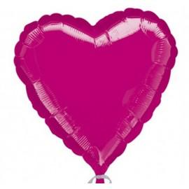 "Globos de foil corazones 32"" (81cm) Fucsia"