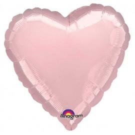 """Globos de foil Corazones de 18"""" Rosa Pastel"""