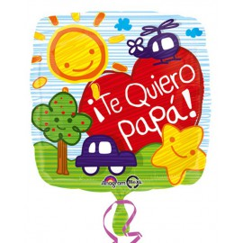 "Globos de foil 18"" (45Cm) Te Quiero Papa"
