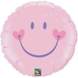"""Globos de foil de 18"""" sonrisa dulce rosa"""