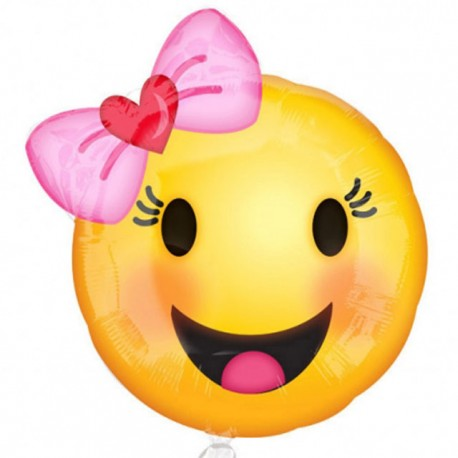 "Globos de foil 18"" (45Cm) Smile Niña"