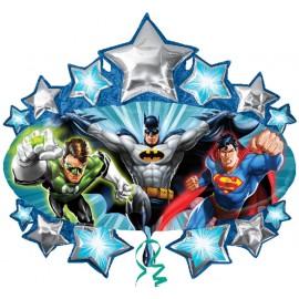 """Globos de foil supershape de 35"""" X 32"""" Liga Justicia"""