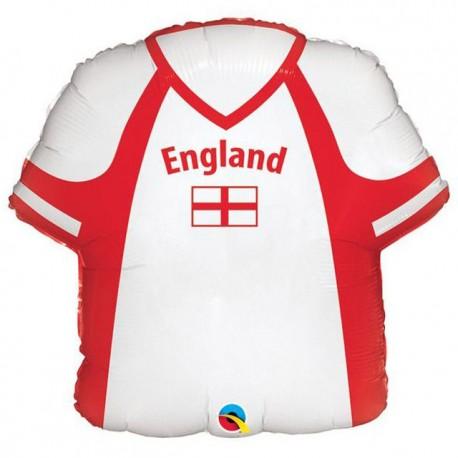 "Globos de foil 22"" Camiseta Inglaterra"