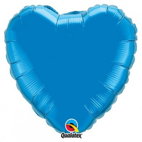 "Globos de foil Corazones de 4"" Azul Zafiro"