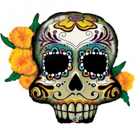 "Globos de foil Supershape 38"" (96Cm) Day of the dead Skull"