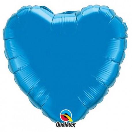 "Globos de foil Corazones de 18"" Azul Zafiro"