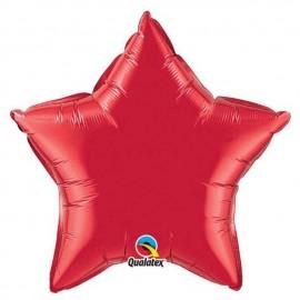 "Globos de foil Estrella de 20"" Rojo Ruby"