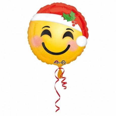 """Foil 18"""" (45Cm) Emoticono Santa"""