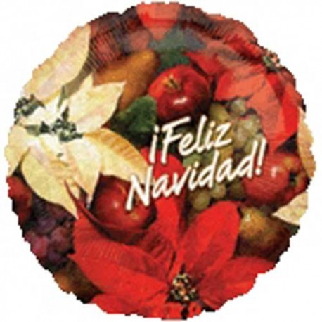 "Foil 18"" (45Cm) Feliz Navidad Flor"